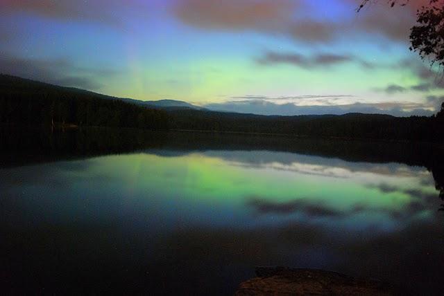 Aurora boreale a Sognsvann